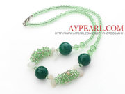 Green Crystal and Aventurine Necklace