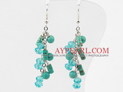 New Design Assorted Turquoise and Green Crystal  Earrings