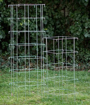 Square Folding Tomato Cages Easy Folds Flat for Compact Storage