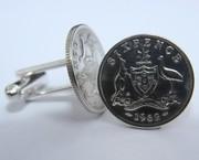 Australian Sixpence Coin Cufflinks
