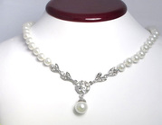 Great Offer!!! Glass Pearl Elegant Necklace