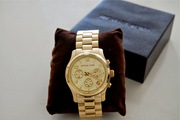 Michael Kors Women's Midsized Runway Gold Tone Watch MK5055