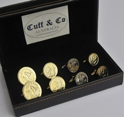 Gold Plated Australian Coin Cufflinks – 4 Pair Set