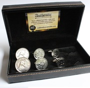 Silver Plated Australian Coin Cufflinks – 3 Pair Set