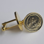 Gold Plated One Cent Coin Cufflinks