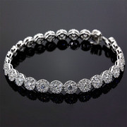 Wear the Beauty of Diamond Cluster Bracelet