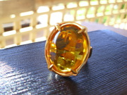 Large Topaz Crystal Ring   NEW