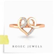 Twisted Heart Shape Diamond Ring