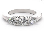 Three Stone Diamond Engagement Rings   Forever Yours